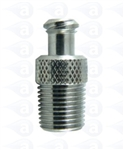 "1/4"" NPT thread to female luer nickel plated brass fitting"