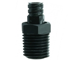 "1/4"" NPT thread to female luer plastic fitting"