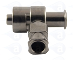 Female luer to male tee metal fitting TSD931-552M