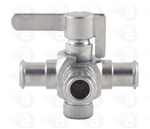 Female to female luer 3 way stopcock metal fitting TSD931-6002