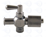 Female to male luer stopcock metal fitting TSD931-6021R