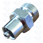 "1/4"" NPT to male luer metal fitting TSD931-7M"