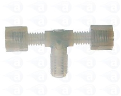 "1/8"" NPT to 2 x 1/8"" compression tee TSD931-90A"