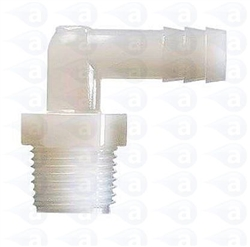 "1/4"" NPT to 3/8"" barb plastic elbow TSD933-13"