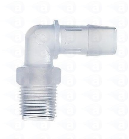 18 Npt To 38 Hose Barb Plastic Elbow Fitting Tsd933 2 Adhesive