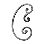 "Scroll Large Forged Ends 1/2"" Sq Matl 7-9/32"" W X"