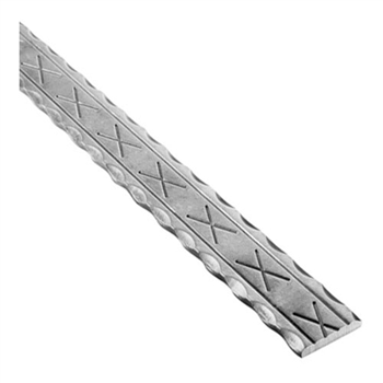 "Rail Hammered Edges 1 9/16"" X 5/16"" 10' L"