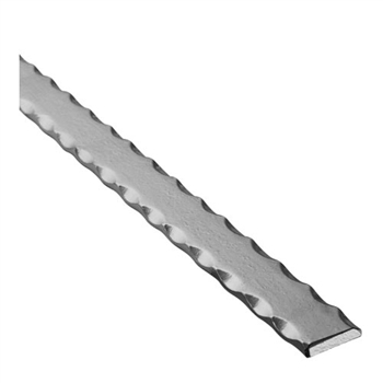 "Rail Hammered Edges 1-3/16"" X 5/16"" 10' L"