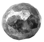 "Faceted Sphere hot forged 3/4"" diameter"