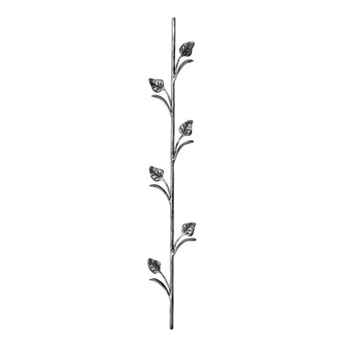 "Picket W/Leaves 5-1/8"" X 39-1/2"" H  1/2"" Dia"