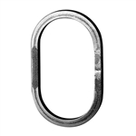 "OVAL RING 1/2"" SQ MTL 3-15/16""W 7-1/2""H"