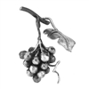 "Grapes Forged Small Cluster W/Leaf 3-9/16"" X 6-11/"