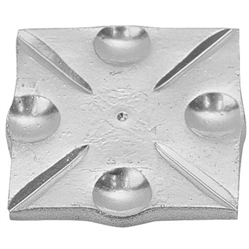 "SHOE PLATE ALUM 3-1/8"" SQ"