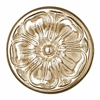 "Rosette Solid Brass 3-7.8"" Dia Not Double Faced"