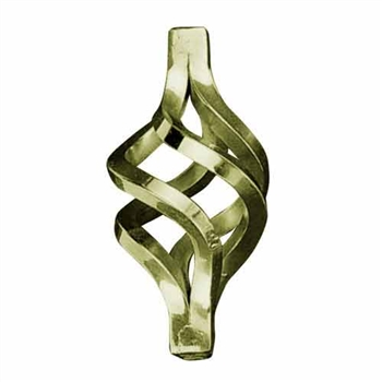 "Basket Brass 1/2"" Sq Matl 2-3/4"" X 5-7/8"" (1466/12"