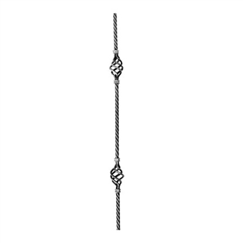 Picket Twisted Rope W/Dbl Basket 5/8 35-7/16""