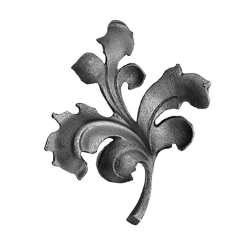 "Leaf Cast Steel 5/8"" X 5/16"" Matl 5-1/2"" X 6-1/8"""