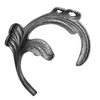 "Leaf Cast Steel 1/2"" Matl 6-1/4"" X 7-1/2"""