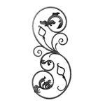 "S-Scroll W/Leaves - Left 14-3/6"" X 31-7/8"""