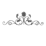 "Scroll Gate Top 5/8"" X 5/16"" Matl W/Leaves W/Roset"