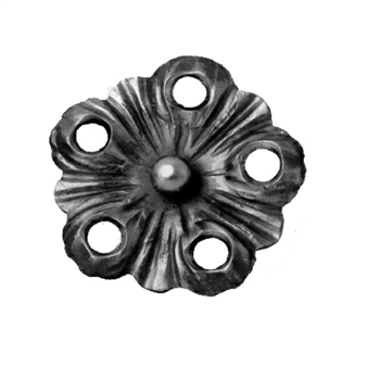 "Flower Forged W/Holes 4-1/8"" Dia X 5/32"" Matl"