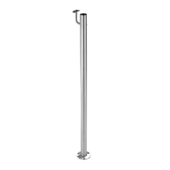 "316 Stainless Steel 1 2/3"" Newel Post Floor Mount"