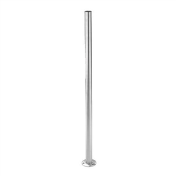 "Stainless Steel 1 2/3"" Newel Post (Pre-Drilled) wi"