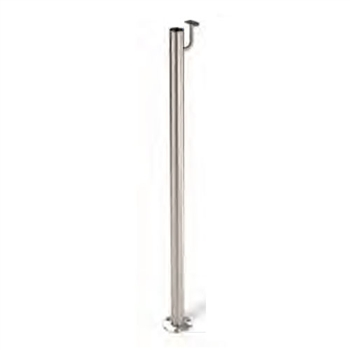 "Stainless Steel 1 2/3"" Newel Post Floor Mount and"