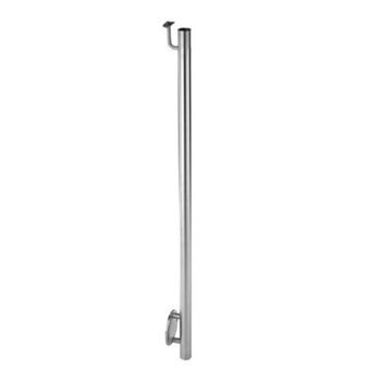 "Stainless Steel 1 2/3"" Newel Post Wall Mount and P"