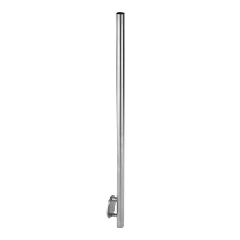 "Stainless Steel 2"" Newel Post Wall Mount"