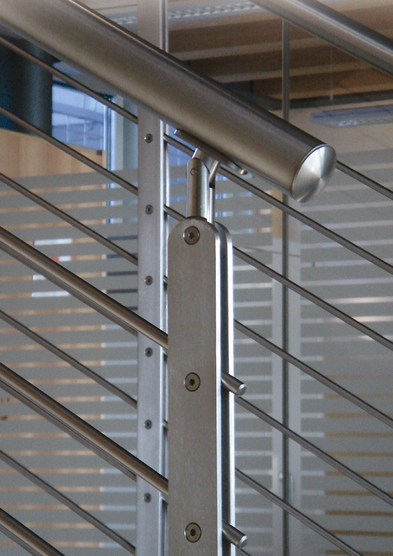 Flat Bar Stainless Steel Newel Post