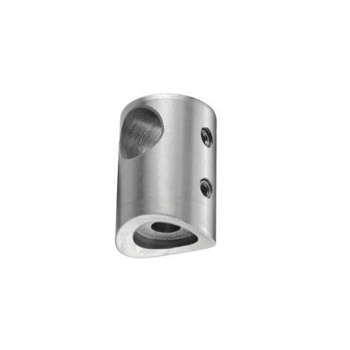 "Stainless Steel Bar Holder 1/2"" Dia. Hole for Squa"