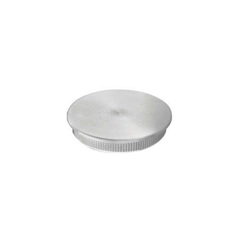 "Stainless Steel End Cap Flat for Tube 1 1/2"" Dia."