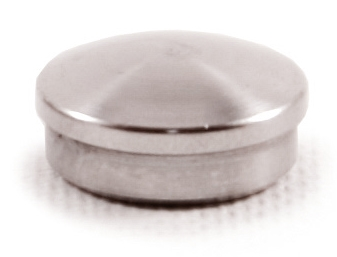 "316 Stainless Steel End Cap Rounded for Tube 1/2"" Dia."