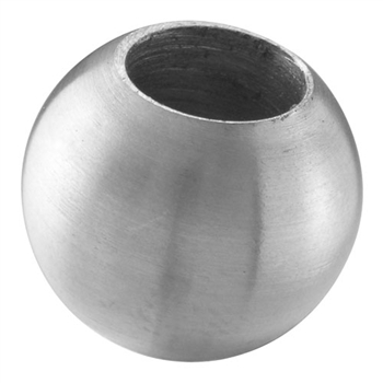 "Stainless Steel Sphere 1"" Dia., 31/64"" Dia. Blind Hole"