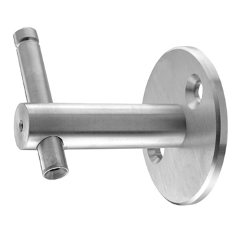 "Stainless Steel Handrail Support 3 5/32"" Dia. x 13"