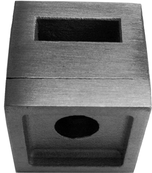 316 Flat Bar Holder for Square Newel Post