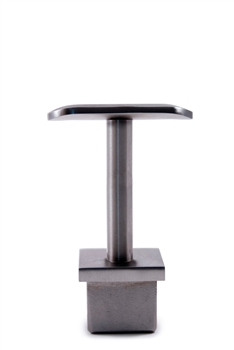 "Stainless Steel Handrail Support 2 61/64"" Dia. x 1 2/3"" Dia., for Square Tube 1 3/16"" Dia."