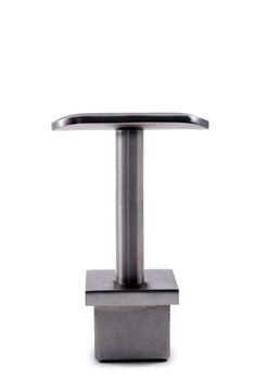 "Stainless Steel Handrail Support 2 61/64"" Dia. x 1 2/3"" Dia., Pivotable, for Square Tube 1 2/3"" Dia."