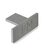 "Aluminum Rectangular End Cap for  1-7/8""W Tube"