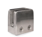 "Stainless Steel Glass Clamp 2 11/64"" x 2 11/64"" for Flat Tube"