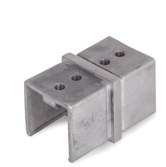 Stainless Steel Fitting Connector for Square Tube 1-9/16