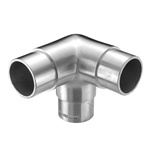 "Stainless Steel 3-Way Corner Fitting 1 2/3"" Dia. x"
