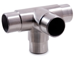 "Stainless Steel 4-Way Corner Fitting 1 7/8"" Dia. x 5/64"""