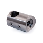 "316 Stainless Steel Bar Holder 1/2"" Dia. Hole for Square Tube"