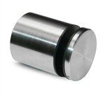 "Stainless Steel Rounded Wall Glass Clamp For 5/16"" to 11/16"" Thickness"