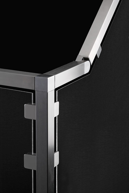 316 Hinge Spoke Stainless Steel Fitting For Square Tube 1