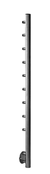 "Stainless Steel 1 2/3"" Horizontal Mount Newel Post with Round Bar Supports"