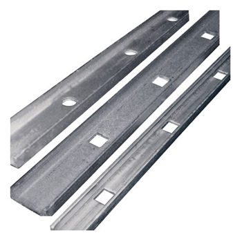 "PUNCHED CHANNEL (I) 1-1/2"" X1/2""X1/8"" SQ HOLE 13/1"