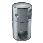 "Galvanized Steel Round Bar Holder 1/2"", 1/2"" Dia."